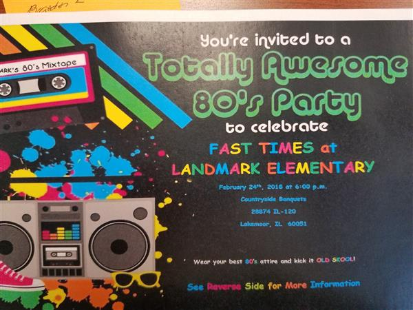 The Event: Fast Times at Landmark Elementary!